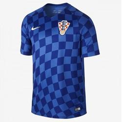 Áo bóng đá Croatia xanh Euro 2016