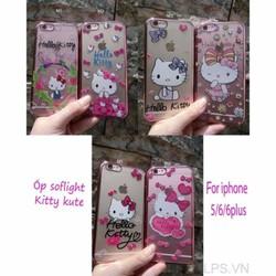 Ốp lưng iPhone 6 Plus-6s Plus dẻo Đính đá hình Kitty