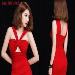 Đầm body cúp ngực kiểu 2 dây sành điệu thời trang DOV965