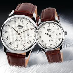 Đồng hồ cặp dây da cổ điển M005