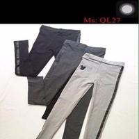 Quần legging nữ thun phong cách thể thao logo mickey QL27