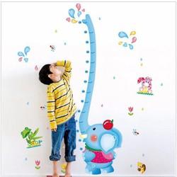 Decal thước đo voi xanh 4