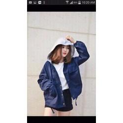 Áo khoác kaki nữ phối mũ thời trang giá rẻ