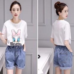 Hàng nhập cao cấp -  Set áo vịt Donal quần short jeans