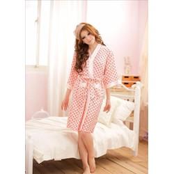 Set áo choàng ngủ + váy ngủ trái tim TK469