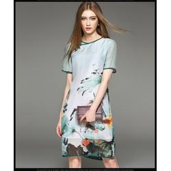 Đầm suông họa tiết cá vàng- DV2620