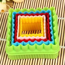 Set khuôn nhấn nhựa 5 hình vuông viền hoa
