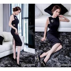 Váy dự tiệc ôm body thiết kế đơn giản, trẻ trung như Ngọc Trinh M3645