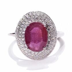 Nhẫn nữ đá Ruby tự nhiên Trang sức HNJ