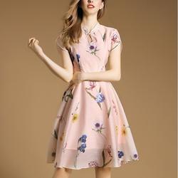 Hàng nhập: Đầm xòe họa tiết tươi trẻ DX207