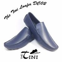 Giày mọi nam da bò Tini Loafer DC02 xanh đen