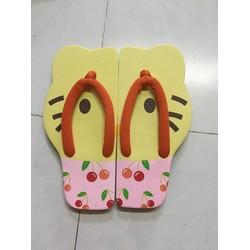 Dép kẹp hình Hello Kitty màu vàng