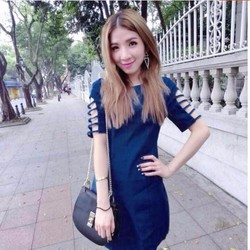Đầm Jean Tay Dây Cá Tính