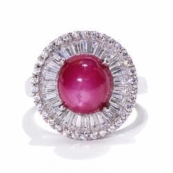 Nhẫn nữ đá Ruby sao tự nhiên Trang sức HNJ