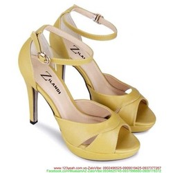 View  Giày cao gót kiểu quai hậu hở mũi sành điệu nổi bật GCG115