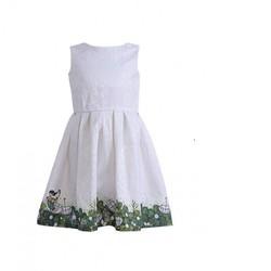 Đầm gấm thêu hoa cao cấp