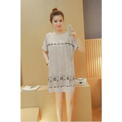 Đầm bầu kiểu dáng suông Hàn Quốc