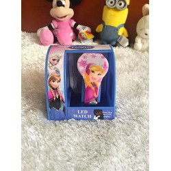 Đồng hồ đèn Led hình hoạt hình Disney Fozen cho bé .