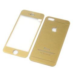Miếng dán cường lực 2 mặt cho Iphone 5 5S SE Vàng