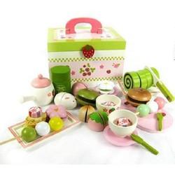 Bộ đồ chơi gỗ Mother Garden MG090s - tiệc trà của Nhật