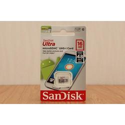 Thẻ nhớ Sandisk Ultra Micro SDHC 16GB Class 10