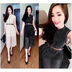 Đầm Maxi Chấm Bi Xinh Xắn NL-D909