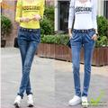 Hàng nhập-Quần Jeans harem co giãn phối ren GLQ003