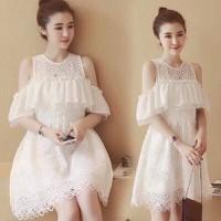 Đầm ren khoét vai bèo