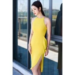 Đầm Ôm Cổ Yếm Xẻ Tà Quyến Rũ - DXM239