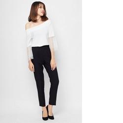 Set áo và quần dài trắng đen