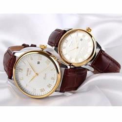 Đồng hồ ĐÔI  dây da SKMEI thương hiệu thời trang uy tín mã SKD001