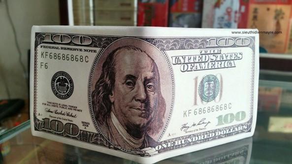 Ví bóp tiền in hình 100$ hàng loại 1 giá tốt 3