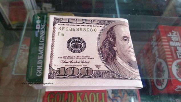 Ví bóp tiền in hình 100$ hàng loại 1 giá tốt 1
