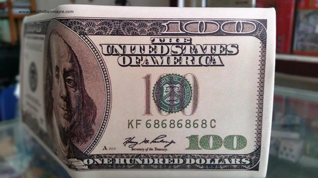 Ví bóp tiền in hình 100$ hàng loại 1 giá tốt 2