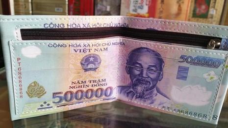 Ví in hình tiền 500k hàng loại 1 chất lượng - giá tốt 2
