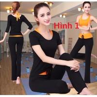 Bộ quần áo tập yoga - 2 áo 1 quần dài BT669-1