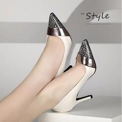 Giày cao gót mũi nhọn da beo phong cách - Giày Đồng Giá