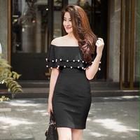Đầm body bẹt vai bèo - DP236