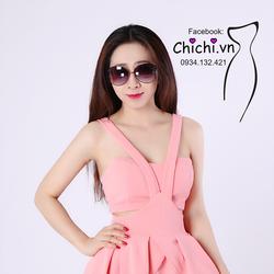 Đầm Váy Xòe Dự Tiệc Dạo Phố C2x - Hồng Phấn