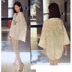 Áo khoác Kimono ren tà ngắn KR02