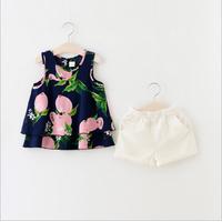 Bộ cotton hè bé gái từ 1 đến 5 tuổi hàng cao cấp - V606
