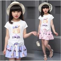 Bộ áo và váy bé gái từ 4 đến 12 tuổi hàng cao cấp - V600