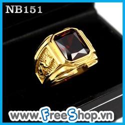 Nhẫn đá nam INOX cao cấp hình rồng NB151 - BH vĩnh viễn