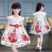 Đầm cotton bé gái từ 4 đến 16 tuổi hàng cao cấp - V604