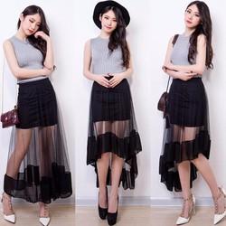 Chân váy phối ren thời trang 3 phong cách