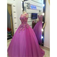 áo cưới tím hồng lộng lẫy,mode 2016