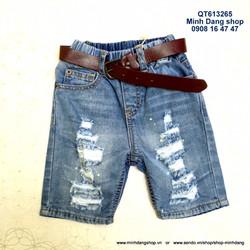 Quần jean wax lưng thun kèm dây nịt rất đẹp