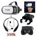 combo tai nghe không dây và kính xem phim 3D