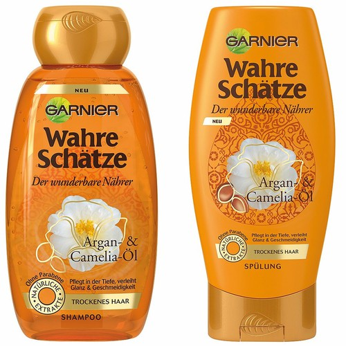 Bộ gội xả Garnier Wahre Schätze dành cho tóc khô