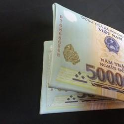 Ví nam in hình tiền 500k  Hàng loại 1 Gía tốt - V015